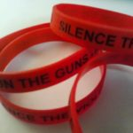 Silence the Violence and Shun the Guns wrist bracelet